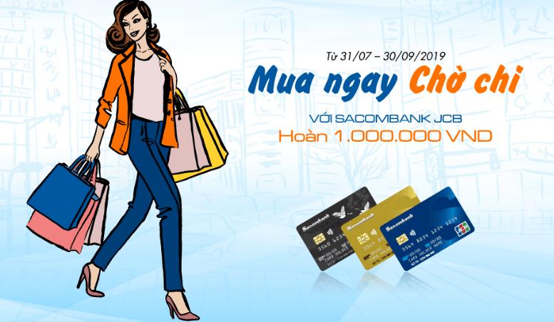 Khuyến mãi hoàn tiền khi thanh toán với thẻ tín dụng Sacombank