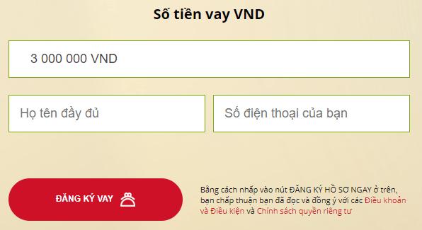 Đăng ký vay tiền với VAYVNĐ